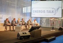 """Auf der RENEXPO Interhydro stand das Motto """"Die Wasserkraft braucht die Politik braucht die Wasserkraft"""" auch beim Energie-Talk im Fokus."""