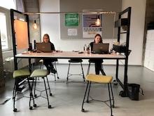 Coworking-Raum im Stammhaus der Berliner Senatsverwaltung für Finanzen.