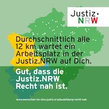 Ein Motiv aus der Kampagne der nordrhein-westfälischen Justiz zur Personalgewinnung.