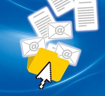 Schrittweise zum digitalen Posteingang.