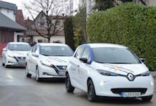 Die Projektteilnehmer in Kusterdingen erhielten einen Renault Zoe oder einen Nissan Leaf.