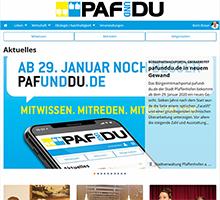 Das Bürgerportal von Pfaffenhofen an der Ilm ist seit dem Relaunch auch für die Nutzung über das Smartphone optimiert.