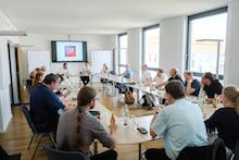 Berlin: Austausch beim Open Data Lunch.