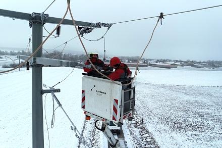 Auch die Montage von Vogelschutzhauben auf den Stromnetzen gehörte zu den Investitionen.