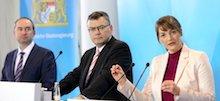 Bei der Pressekonferenz zum Digitalkabinett am 11. Februar 2020 wird Bayerns 12-Punkte-Plan zum bürgerorientierten Servicestaat vorgestellt.