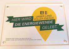 """Die Auszeichnung vorbildlicher """"Orte voller Energie"""" ist ein Baustein des neuen Kommunikationskonzeptes der Landesregierung zur Energiewende in Baden-Württemberg."""