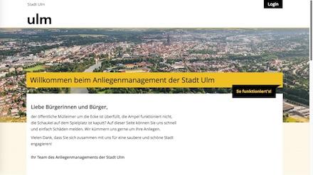Mit frischem Design und mehr Nutzerfreundlichkeit wartet jetzt der Mängelmelder der Stadt Ulm auf.