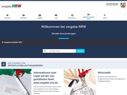 Die Stadt Vreden führt die elektronische Vergabe für nationale Ausschreibungen über den Vergabemarktplatz NRW durch.