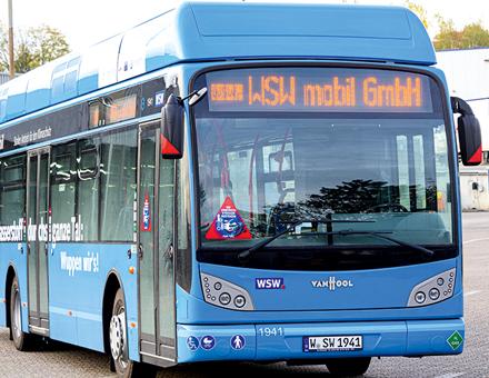 Bis Ende des Jahres 2020 sollen in Wuppertal zehn wasserstoffbetriebene Busse im Linienverkehr eingesetzt werden.