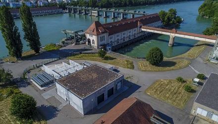 Die industrielle Power-to-Gas-Anlage am Wasserkraftwerk in Grenzach-Wyhlen.