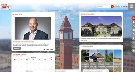 Die überarbeitete Homepage der Stadt Lehrte soll den Anforderungen des OZG gerecht werden.