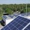 Photovoltaikanlage auf dem Dach des Blockheizkraftwerks der Stadtwerke Bernau.