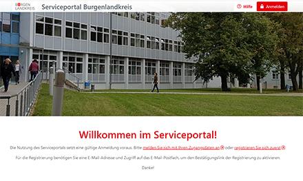 Ab jetzt steht den Bürgern im Burgenlandkreis das neue Serviceportal zu Verfügung.
