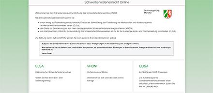 Übersichtlich aufgeführt: Die Online-Angebote zum Schwerbehindertenrecht für Nordrhein-Westfalen.