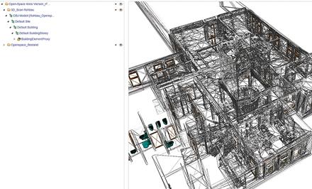 Ein Eindruck von Building Information Modeling am Monitor.