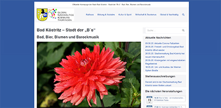 Übersichtlich gestaltet: Die neue Website der Stadtverwaltung Bad Köstritz.