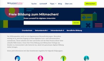 WirLernenOnline hilft dabei, digitale Lerninhalte leichter zu finden.