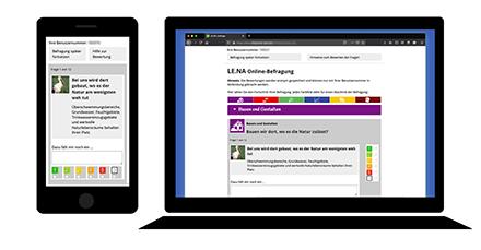 Das bayerische Online-Umfrage-Tool LE.NA gibt Bürgern die Möglichkeit, sich aktiv an der Weiterentwicklung ihrer Gemeinde zu beteiligen.