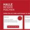 Über eine eigens eingerichtete Website sollen die Bürger der Stadt Halle ins Gespräch kommen, diskutieren und gemeinsam Ideen für ein besseres Miteinander entwickeln.