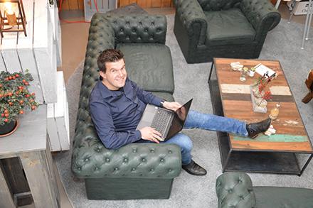 Projektleiter Jens Visser im Homeoffice.