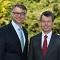 Die WEMAG-Vorstände Thomas Murche (l.) und Caspar Baumgart blicken optimistisch auf die Weiterentwicklung des Energieunternehmens.
