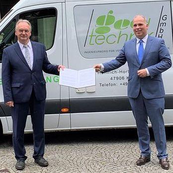 Feierliche Unterzeichnung des Digitalpakts Sachsen-Anhalt in Magdeburg.
