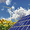 Windkraft und Solarthermie sorgen für einen wachsenden Anteil erneuerbarer Energien im deutschen Strommix.