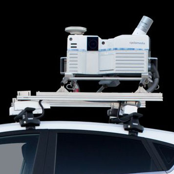 Fünf Fahrzeuge mit 360°-Kameras und 3D-Scannern sind im August und September im Kreis Recklinghausen unterwegs.