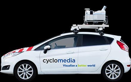 Fünf Fahrzeuge mit 360-Grad-Kameras und 3D-Scannern sind im August und September 2020 im Kreis Recklinghausen unterwegs.