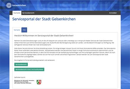 Das jetzt pilotierte Serviceportal ist Teil eines vom Land NRW geförderten Gemeinschaftsprojekts der Stadt Gelsenkirchen.