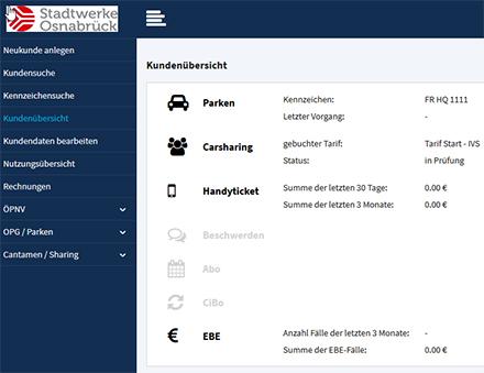 Von Carsharing über den ÖPNV bis hin zum digitalen Parkticket: Im Osnabrücker Modell fasst eine Plattform alle Mobilitätsangebote der Stadt zusammen.