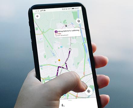 Mit dem Busradar der Stadtwerke Münster können ÖPNV-Fahrgäste die für sie optimale Route auswählen.