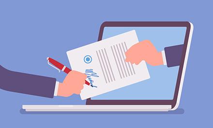 Die elektronische Unterschrift sorgt für beschleunigte Verfahren, weil Dokumente ohne Medienbrüche übermittelt und maschinell weiterverarbeitet werden können.