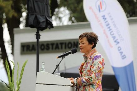 Lucia Puttrich, Hessische Ministerin für Bundes- und Europaangelegenheiten, bei ihrer Rede.