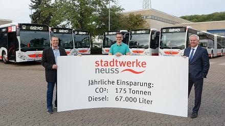 Die Stadtwerke Neuss bringen umweltfreundliche Stadtbusse auf die Straße.