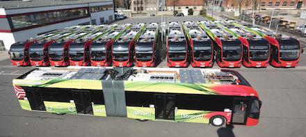 Die E-Busflotte der Stadtwerke hat die Eine-Million-E-Kilometer-Marke geknackt.