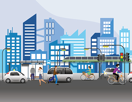 Eine vernetzte Infrastruktur ist die Basis der Smart City.