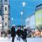 Mastleuchten sorgen in Innenstädten für eine gleichmäßige Lichtverteilung.