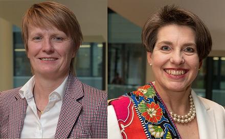 Birgit Lichtenstein (l.) und Susanne Fabry (r.) werden im kommenden Jahr Vorständinnen bei der RheinEnergie.