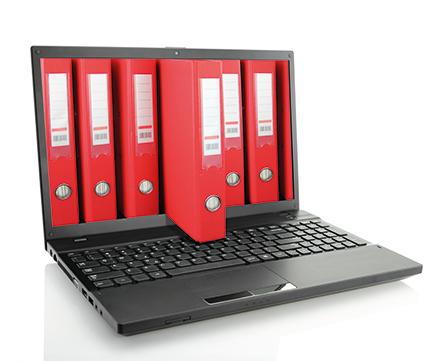 E-Akten sind jederzeit und überall einsehbar.