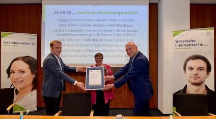 Das ITDZ Berlin hat erneut das IHK-Siegel für exzellente Ausbildungsqualität erhalten.