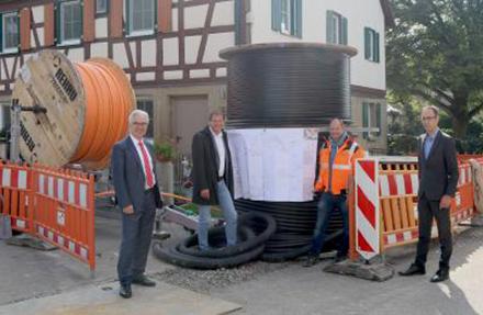 In einem interkommunalen Projekt bauen die Stadtwerke Schwäbisch Hall das Breitband-Netz aus.
