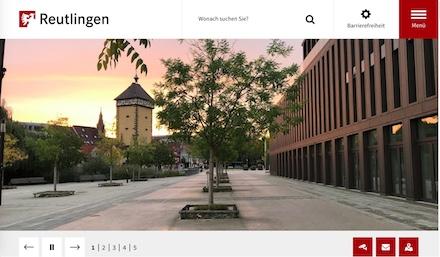 In moderner Optik wartet der neue Web-Auftritt der Stadt Reutlingen auf.
