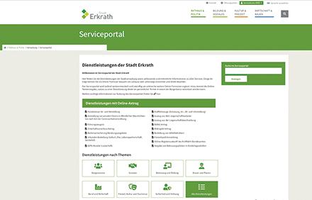 Jetzt gestartet: Das neue Serviceportal der Stadt Erkrath.