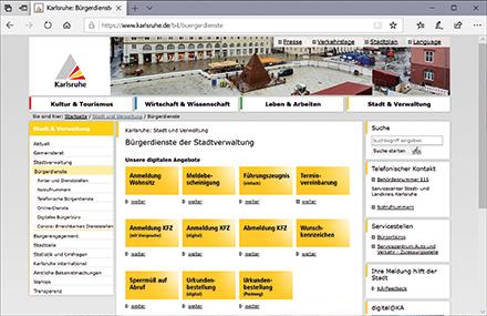 Die Stadt Karlsruhe baut ihren Online-Bürgerservice aus.