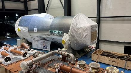Herzstück der neuen GuD-Anlage von STEAG in Herne ist eine Siemens-Gasturbine.