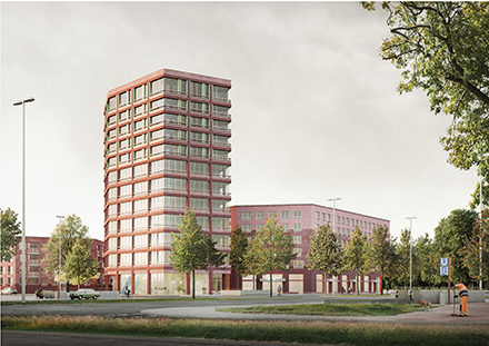 So sieht der erstplatzierte Entwurf des Realisierungswettbewerbs für das lebendige Quartier in der bayerischen Landeshauptstadt aus.