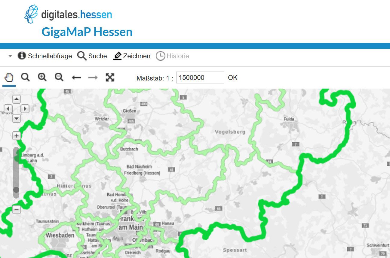 Das Online-Portal GigaMaP  soll Hessens Kommunen beim Breitband-Ausbau unterstützen.