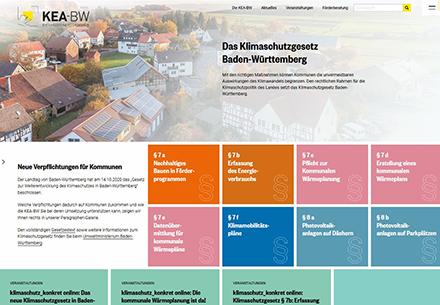 Übersichtlich: Das neue Informationsportal der KEA-BW liefert unter anderem Basisinformationen, Anleitungen und eine FAQ-Liste.
