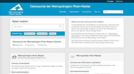 Das neue Datenportal der Metropolregion Rhein-Neckar ist online.